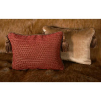 Old World Weavers Diamond Chenille - Lee Jofa Velvet Pillows