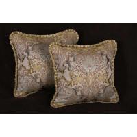 Pierre Frey Piqued Embroidery - Elegant Designer Pillows