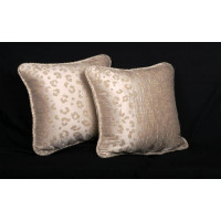 Custom Pillows | Kravet Couture Mohair Leopard - Lee Jofa Velvet