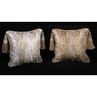 Silk Lampas with Old World Weavers Velvet - Elegant Pillows