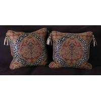 Custom Design Decorative Pillows  - Large Leopardo Damask with Velvet