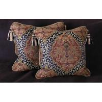 Custom Design Decorative Pillows - Leopardo Damask with Luxury Velvets