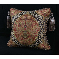 Leopardo Damask Brocade - Italian Velvet - Single Accent Pillow