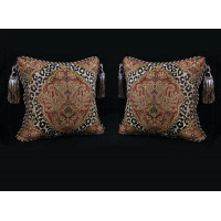 Leopardo Damask Brocade - Italian Velvet Designer Pillows