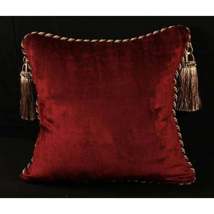 Tassel Pillow Leopardo Damask Brocade Italian Velvet
