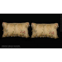 Pindler Brocade with Clarence House Velvet - Designer Pillows