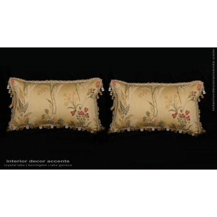 Pindler Brocade With Clarence House Velvet Designer Pillows Enchanting Brocade Home Decor Decoration