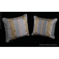 Pure Silk Lisere - Lee Jofa Velvet Decorative Pillows in Blue