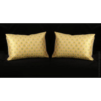 Custom Silk Modern Decorative Pillows | Choose Size, Trim and Velvet