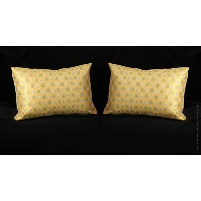 Custom Silk Modern Decorative Pillows Choose Size Trim And Velvet Gorgeous Decorative Trim For Pillows