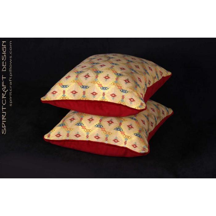 Custom Decorative Pillows - Lee Jofa Zanzibar Lampas Fabric