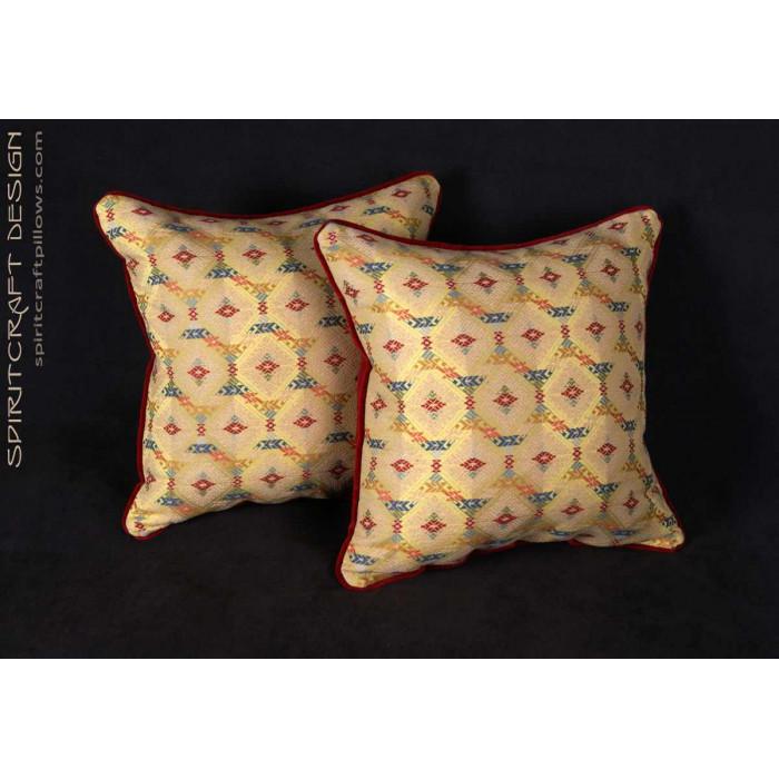 Custom Designed Decorative Pillows : Custom Decorative Pillows - Lee Jofa Zanzibar Lampas Fabric
