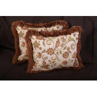 Kravet Jacobean Brocade - Lee Jofa Velvet Decorative Pillows