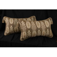 Kravet Modern Ikat Hand-Print - Brunschwig and Fils Pillows