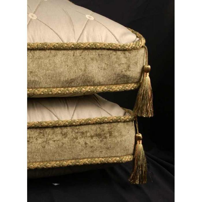 Kravet Brocade And Chenille Decorative Designer Box Pillows