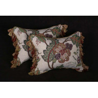 Kravet Jacobean Fabric - Lee Jofa Velvet Decorative Accent Pillows