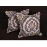 Kravet Design Ikat Print with Lee Jofa Velvet Designer Pillows