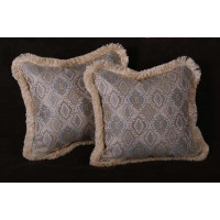 Kravet Medallion Brocade - Donghia Velvet Decorative Pillows