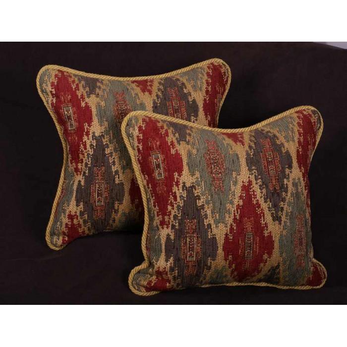 Southwestern Tapestry Pillows : Kravet Design Tapestry with Pierre Frey Velvet - Decorative Pillows