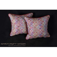 Custom Designed Pillows - Kravet Couture Mesa Weave Pillows