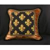 Scalamandre Epingle with Silk and Velvet - Luxury Decorative Pillow