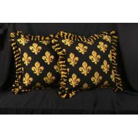 Scalamandre Epingle - Brunschwig Velvet Decorative Pillows