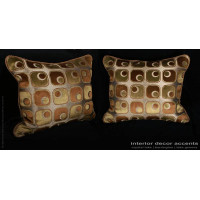 Stroheim Geometric - Scalamandre Velvet Modern Designer Pillows