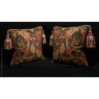 Stroheim Brocade with S Harris Velvet | Two Designer Pillows