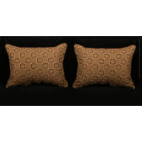 Stroheim Brocade - Kravet Italian Strie Velvet Designer Pillows