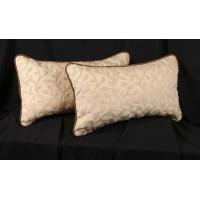 Pindler Scrollwork Cut Velvet - Belgian Kravet Velvet Throw Pillows