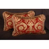 Pindler Elegant Brocade - Lee Jofa Velvet Decorative Accent Pillows