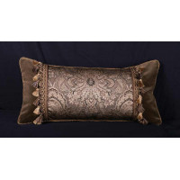 Robert Allen Damask - Clarence House Velvet Single Pillow
