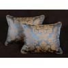 Scalamandre Fortuny Style Silk Damask - Lee Jofa Velvet Accent Pillows