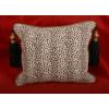 Leopard Chenille with Lee Jofa Velvet Designer Decorative Pillows