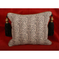 Leopard Chenille with Lee Jofa Velvet Designer Decorative Pillows