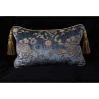 Scalamandre Sculpted Silk Velvet with Lee Jofa Velvet Single Pillow