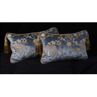 Scalamandre Sculpted Silk Velvet - Lee Jofa Elegant Accent Pillows