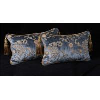 Scalamandre Sculpted Silk Velvet - Lee Jofa Elegant Accent Pillows