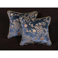 Scalamandre Sculpted Silk Velvet - Lee Jofa Designer Pillows