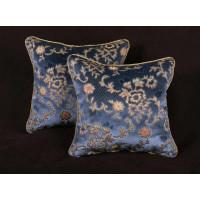Scalamandre Sculpted Silk Velvet - Lee Jofa Designer Pillows