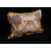 Monkey and Tiger Brocade - Lee Jofa Velvet Designer Pillow