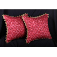 Scalamandre Hand Print - Clarence House Velvet Decorative Pillows