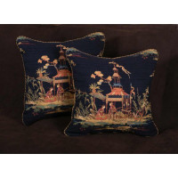 Asian Schumacher Brocade - Kravet Velvet Decorative Pillows