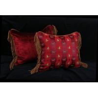 Custom Designed Decorative Pillows | Schumacher Animal Jacquard