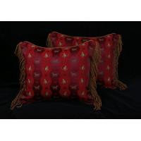 Schumacher Italian Jacquard - Elegant Velvet Designer Pillows