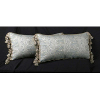 Schumacher Paisley Brocade with Chenille - Elegant Accent Pillows