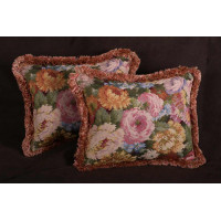 Schumacher Floral Boucle - Kravet Couture Mohair Velvet Pillows