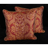 Lee Jofa Silk Damask - Kravet Gold Velvet Large Designer Pillows