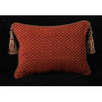 Stroheim Diamond Chenille - Lee Jofa Velvet Single Accent Pillow