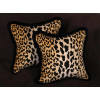 Stroheim Leopard Print Velvet - 26 in Decorative Accent Pillows